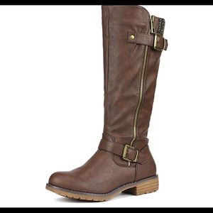 0501 Women's Side Zipper Knee High Riding Boots
